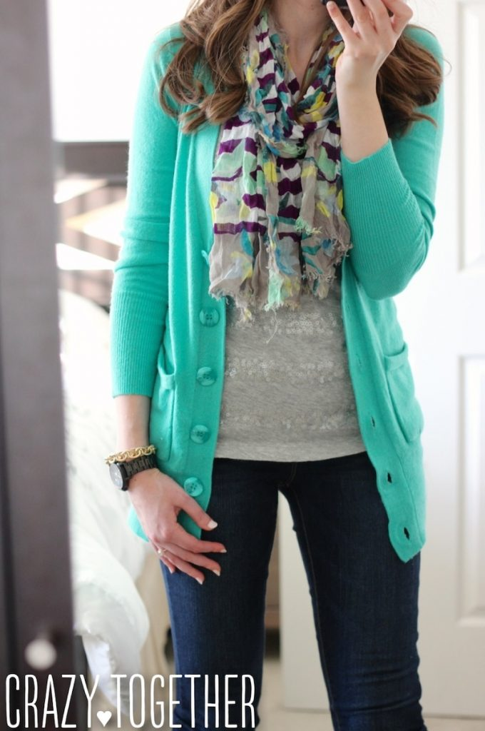 Donelle V-Neck Button Up Cardigan from Stitch Fix, October 2014 blog review
