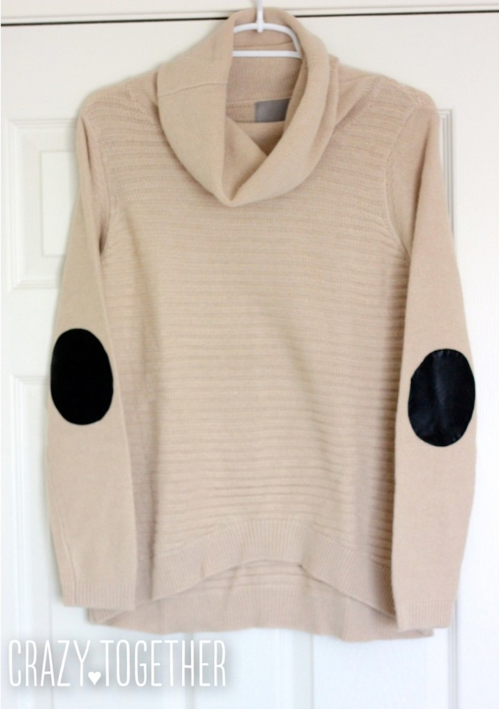 Abbot Crew Neck Elbow Patch Sweater from Stitch Fix, October 2014