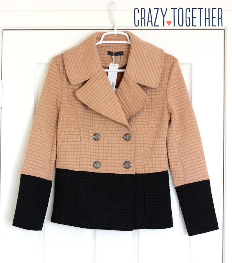 Pierina Textured Colorblock Peacoat from Stitch Fix, October 2014 blog review
