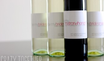 Personalized Bridesmaid Wine Labels + A Giveaway