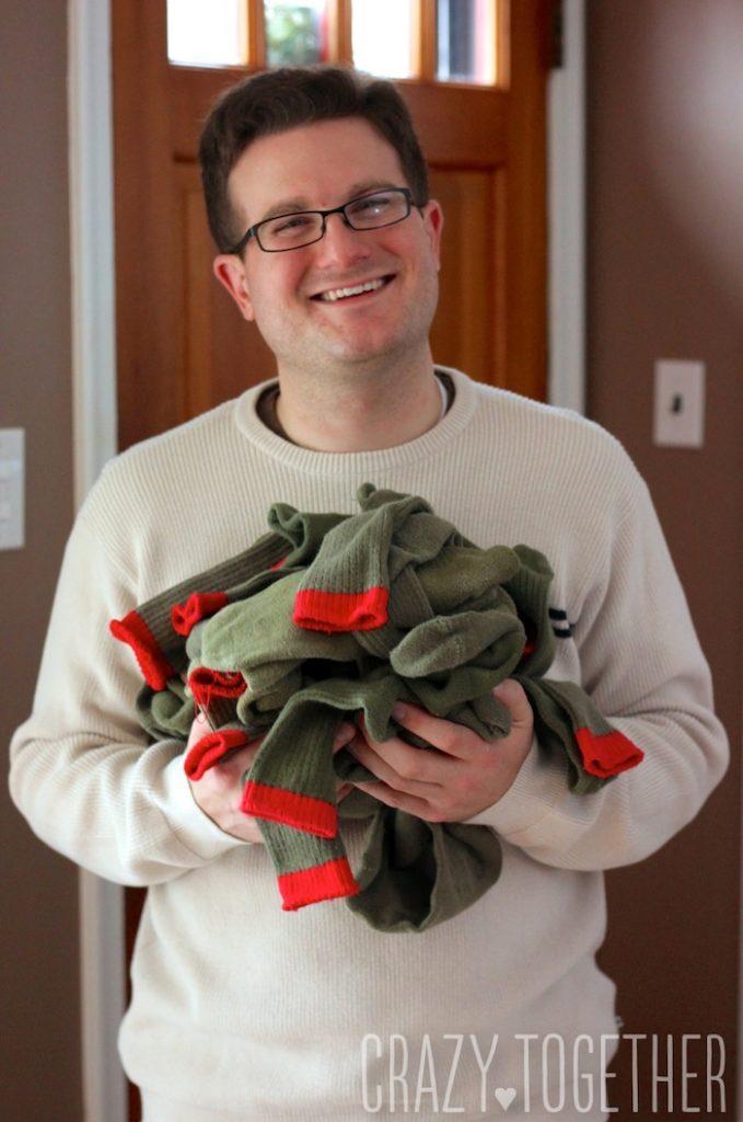 A big ol' heap of boy scout socks