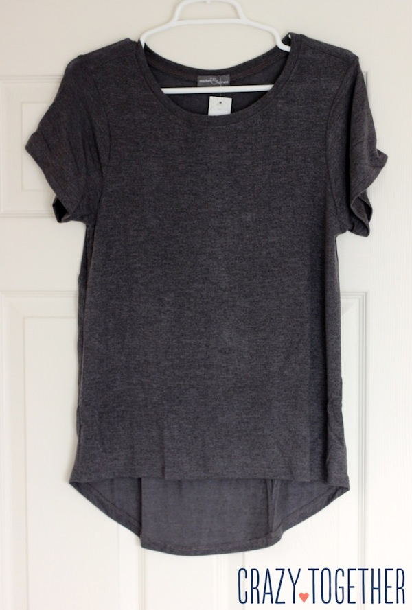 Sam Hi-Lo Short Sleeve Tee in gray from Stitch Fix