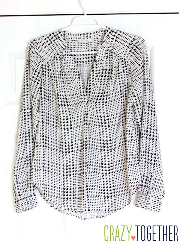 Stitch Fix Ackley Houndstooth Print Blouse from 41Hawthorn #stitchfix