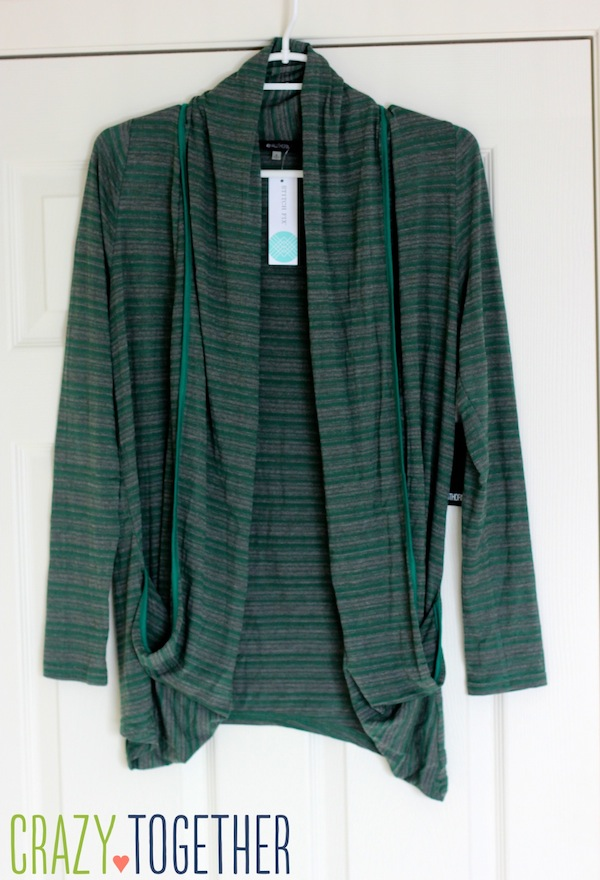 Concord Striped Draped Pocket Cardigan from 41Hawthorn - January 2015 Stitch Fix review #stitchfix