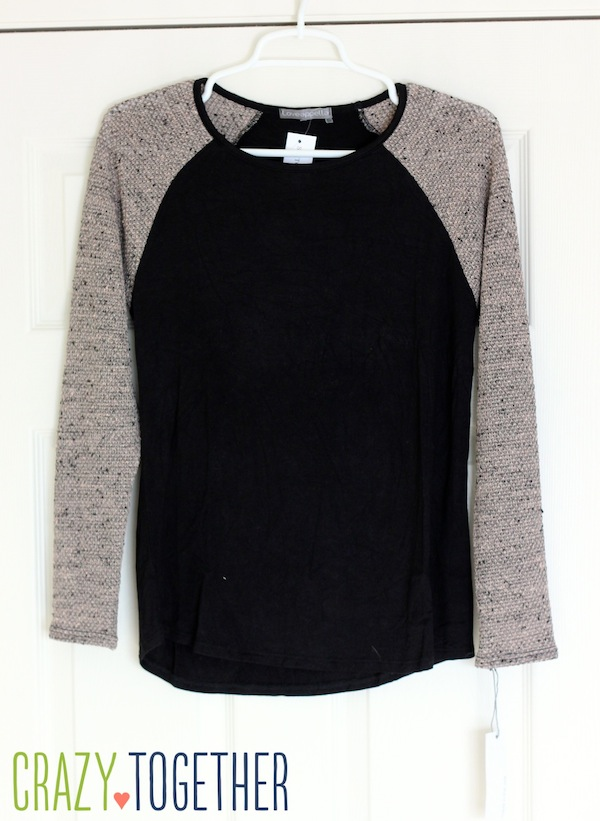Morgan Mix Knit Raglan Top from Loveappella - January 2015 Stitch Fix review #stitchfix