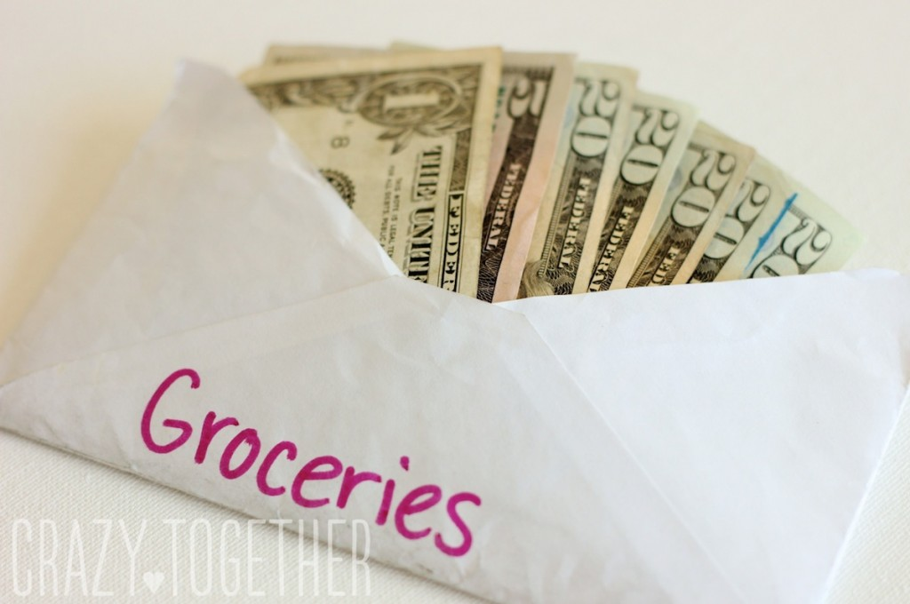 Dave Ramsey's envelope plan - buying groceries on the Whole30
