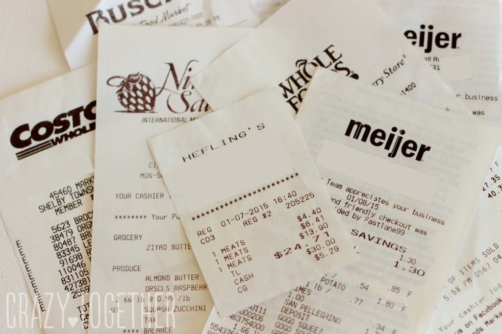 whole30 grocery receipts