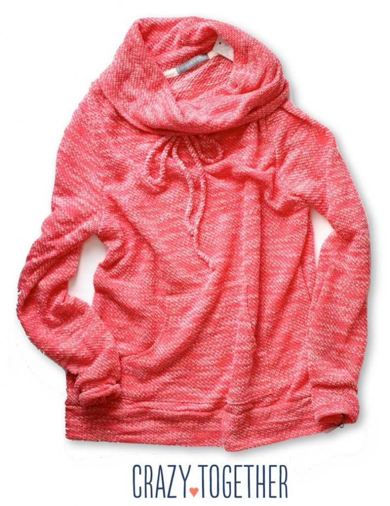 Evie Draw String Funnel Neck Sweatshirt from Loveapella - Stitch Fix February 2015 Review #stitchfix