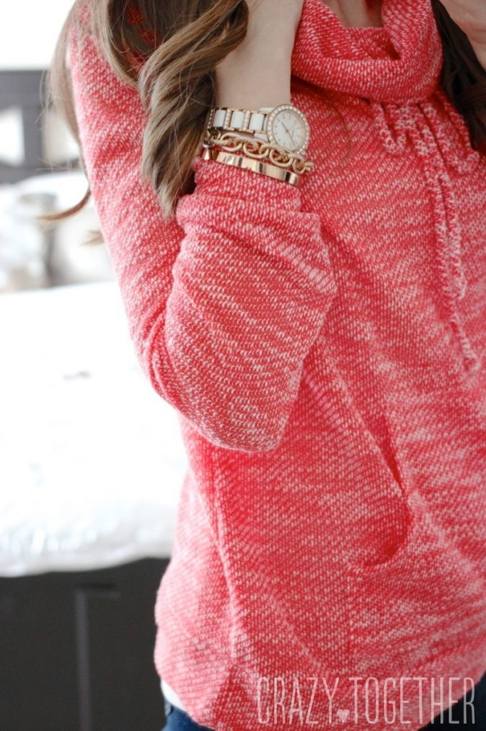 coral sweater from Stitch Fix