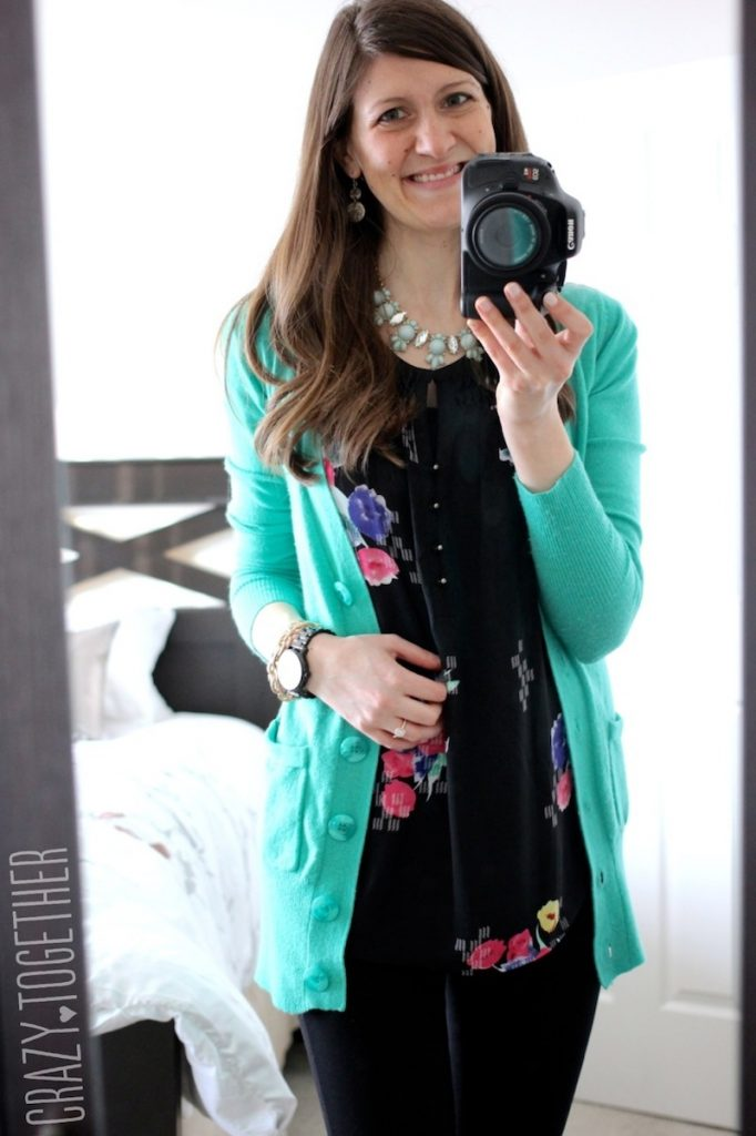 Sicily Pintuck Detail Blouse from Amour Vert with Donelle V-Neck Button-Up Cardigan- Stitch Fix February 2015 Review #stitchfix