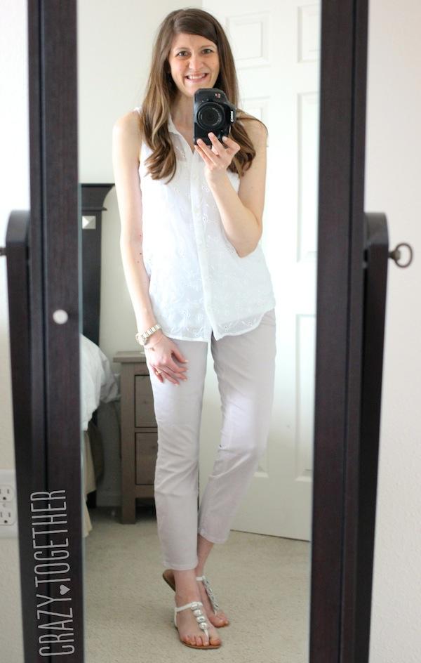 Level 99 light pink Patrick Cropped Chino Pants from Stitch Fix with a white sleeveless blouse #stitchfix #fashion