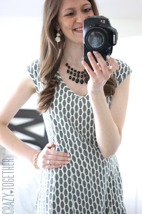 grey Taylor Izara Honeycomb Print Dress from Stitch Fix #stitchfix #fashion