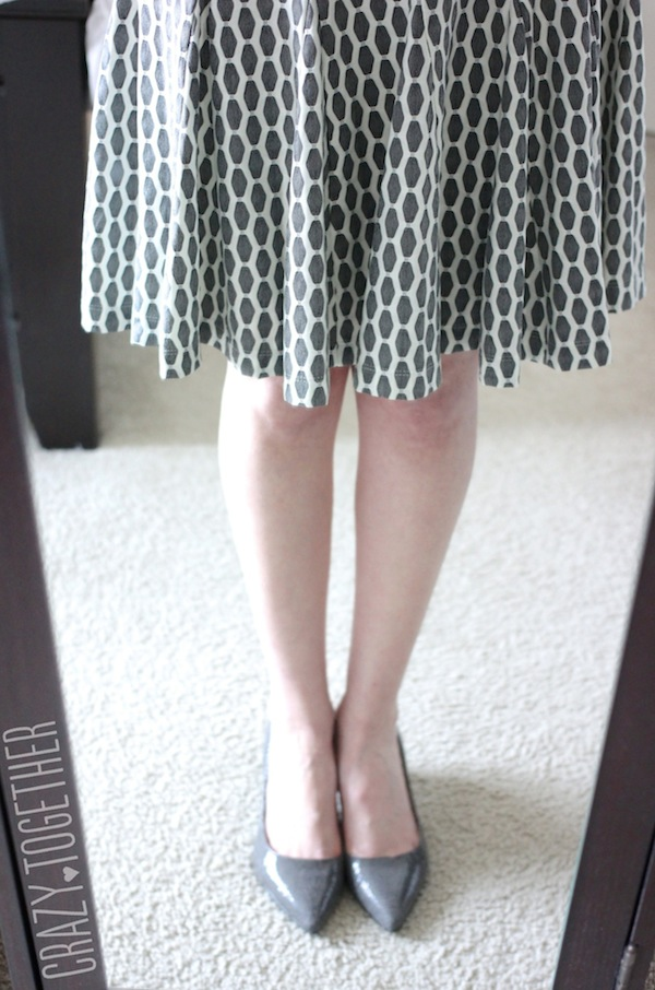 grey Taylor Izara Honeycomb Print Dress from Stitch Fix #stitchfix #fashion