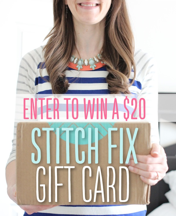 Enter to WIN a Stitch Fix gift card!