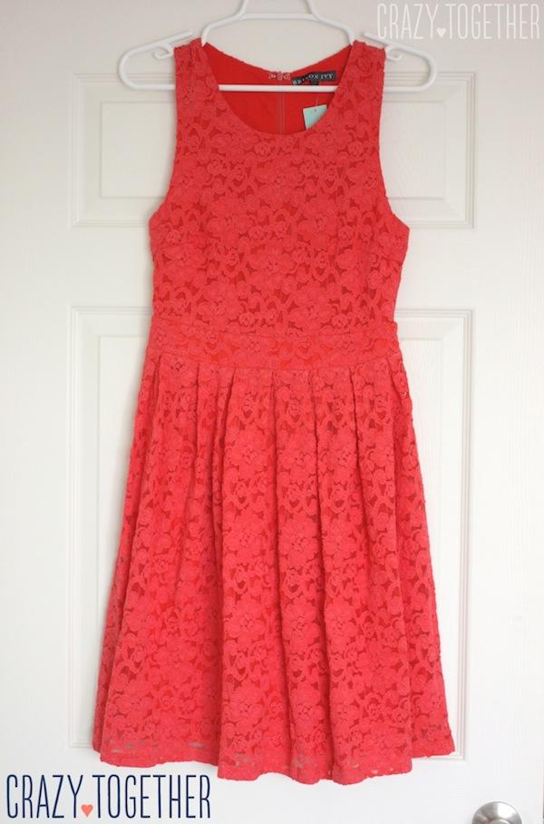 coral BRIXON IVY Nickole Sleeveless Lace Fit & Flare Dress from Stitch Fix #stitchfix #fashion #lace