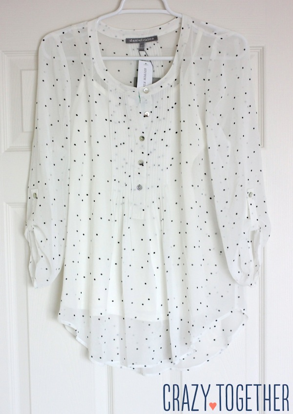 Daniel Rainn Bilson Dot Print Pleat Detail Blouse from Stitch Fix #stitchfix #fashion