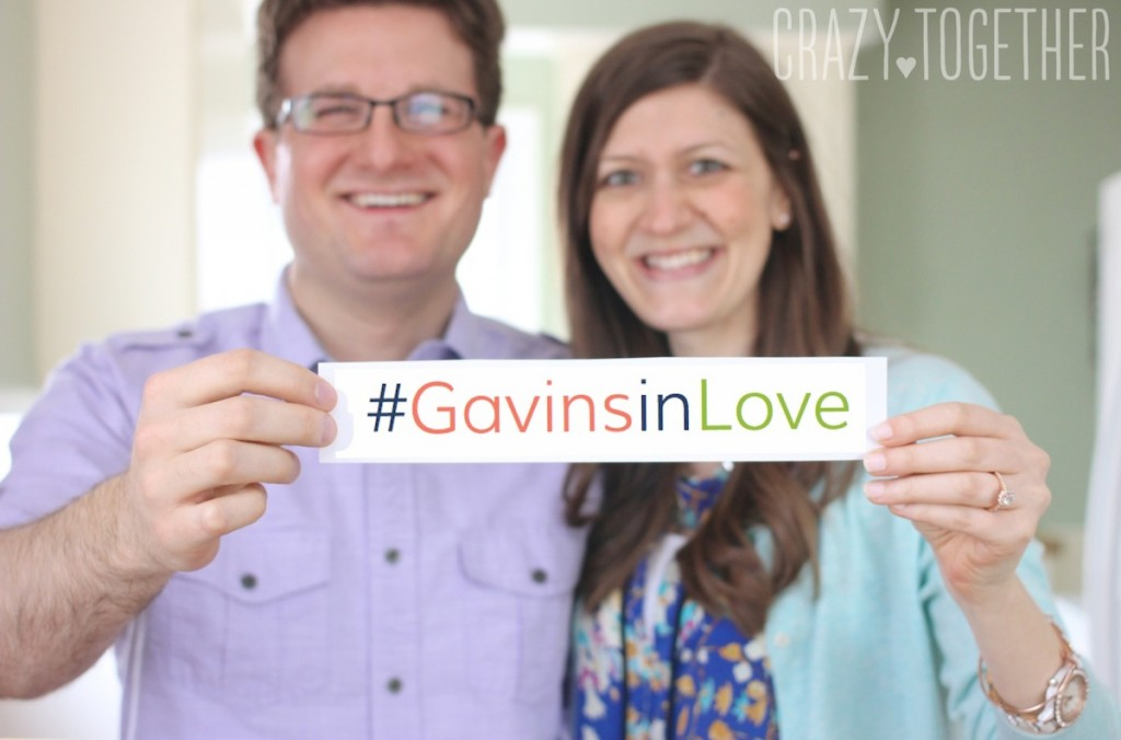 #GavinsinLove wedding hashtag