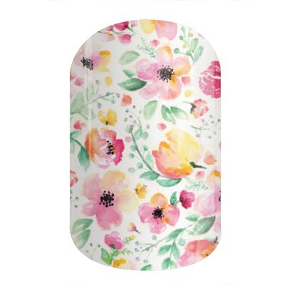 """Boutique"" floral nail wrap from Jamberry"