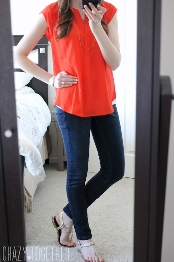 Judy Split Neck Blouse from Daniel Rainn - May 2015 Stitch Fix review #stitchfix #fashion