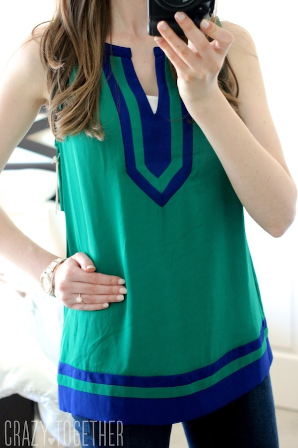 Flynn Colorblock Sleeveless Blouse from 41Hawthorn - May 2015 Stitch Fix Review #stitchfix #fashion