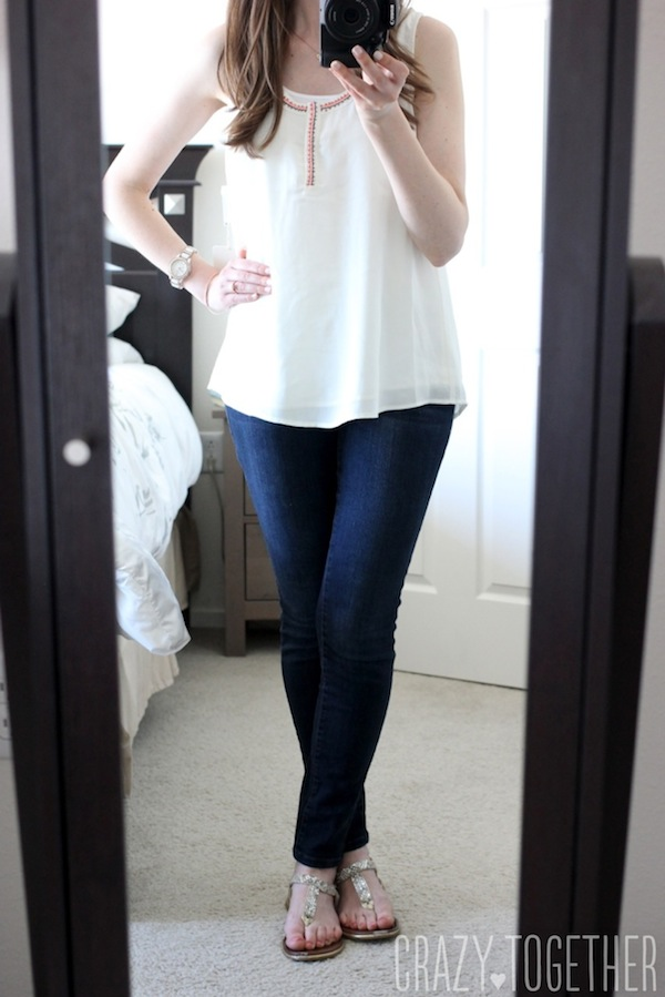 McAdams Beeded Neckline Blouse from 41Hawthorn - May 2015 Stitch Fix Review #stitchfix #fashion