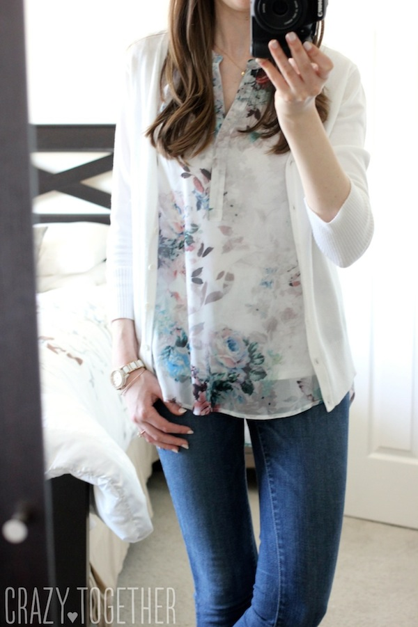 Vivienne Split Neck Blouse from Daniel Rainn - May 2015 Stitch Fix Review #stitchfix #fashion