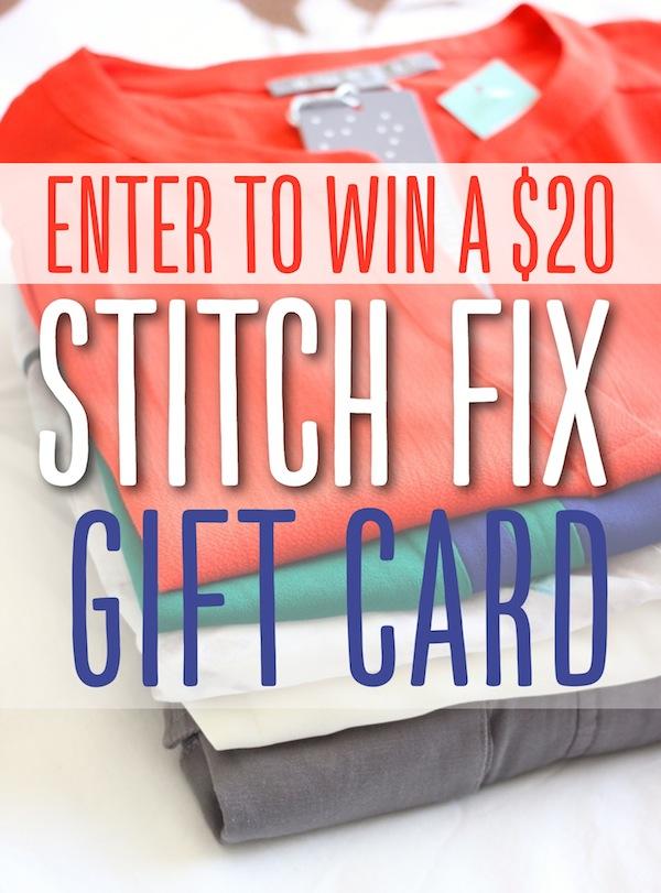 Enter to WIN a $20 Stitch Fix Gift Card #stitchfix