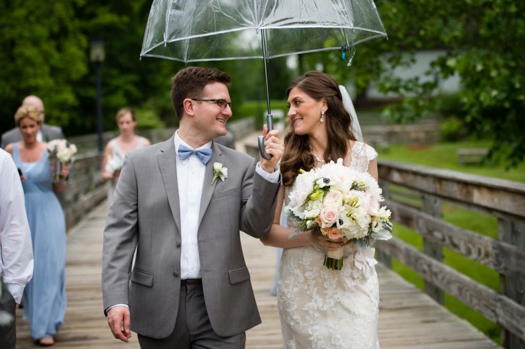 clear umbrella for rainy wedding day #wedding