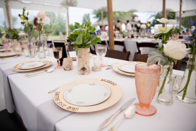 Wedding wednesday diy woodburned plates vintage wedding dinner ideas junglespirit Gallery