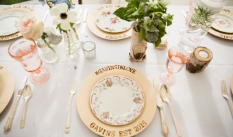 Wedding Wednesday: DIY Woodburned Plates