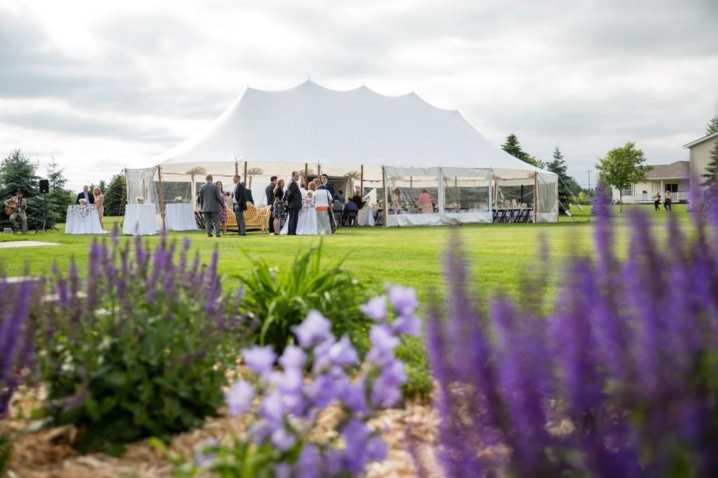 outdoor sailcloth tent wedding reception