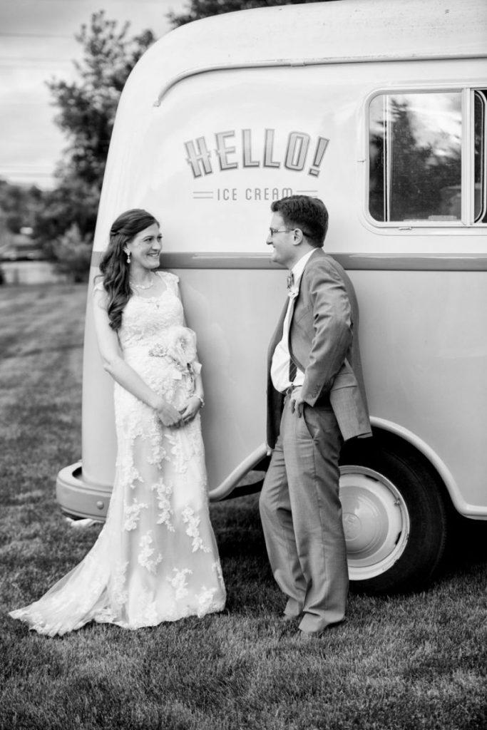 vintage ice cream truck from Hello Ice Cream - vintage wedding ideas