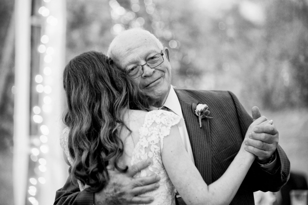 father of the bride first dance wedding photo