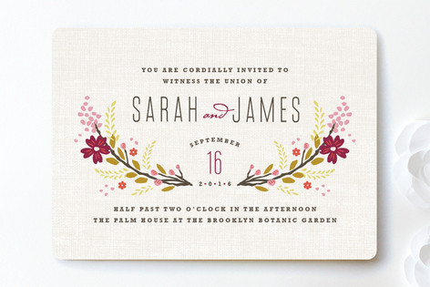 Our Wedding Invitations from Minted