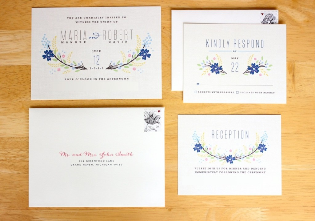 Botanical Blooms wedding invitations from Minted