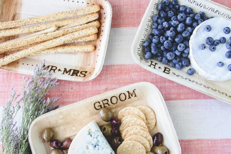 Project Wedding DIY Custom Woodburned Snack Plates