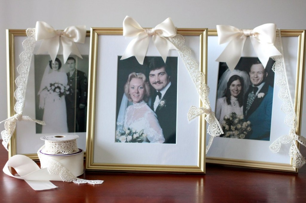 DIY vintage family wedding portrait frames (for cheap!)