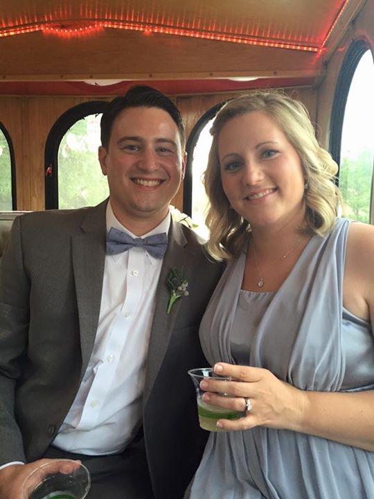 wedding trolley ride