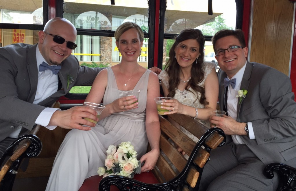 wedding trolley ride