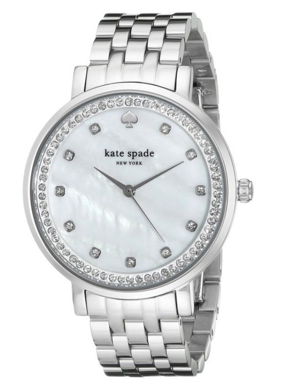 Kate Spade silver monterey watch
