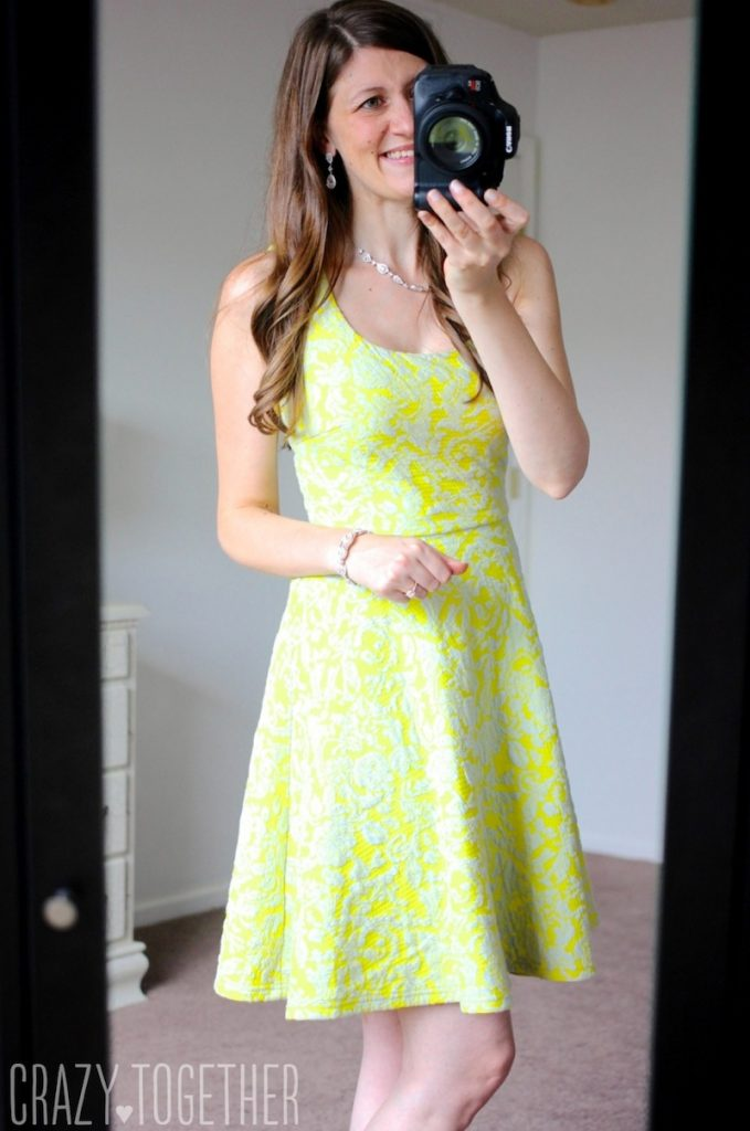 yellow Lex Textured Floral Knit Fit & Flare Dress - Stitch Fix