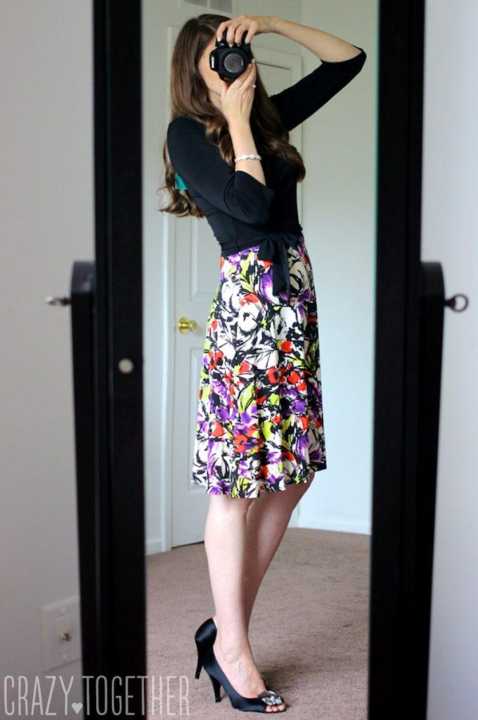black Amandine Faux Wrap Dress by Leota - Stitch Fix