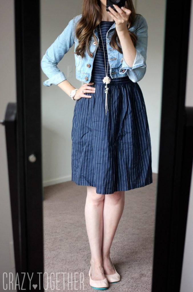 navy blue Edmund Pinstripe Dress from Ivy + Blu - Stitch Fix