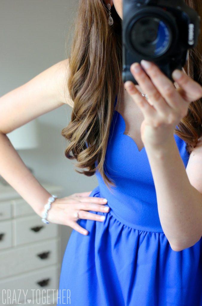 cobalt blue Dixon Scallop Trim Dress from Everly - Stitch Fix