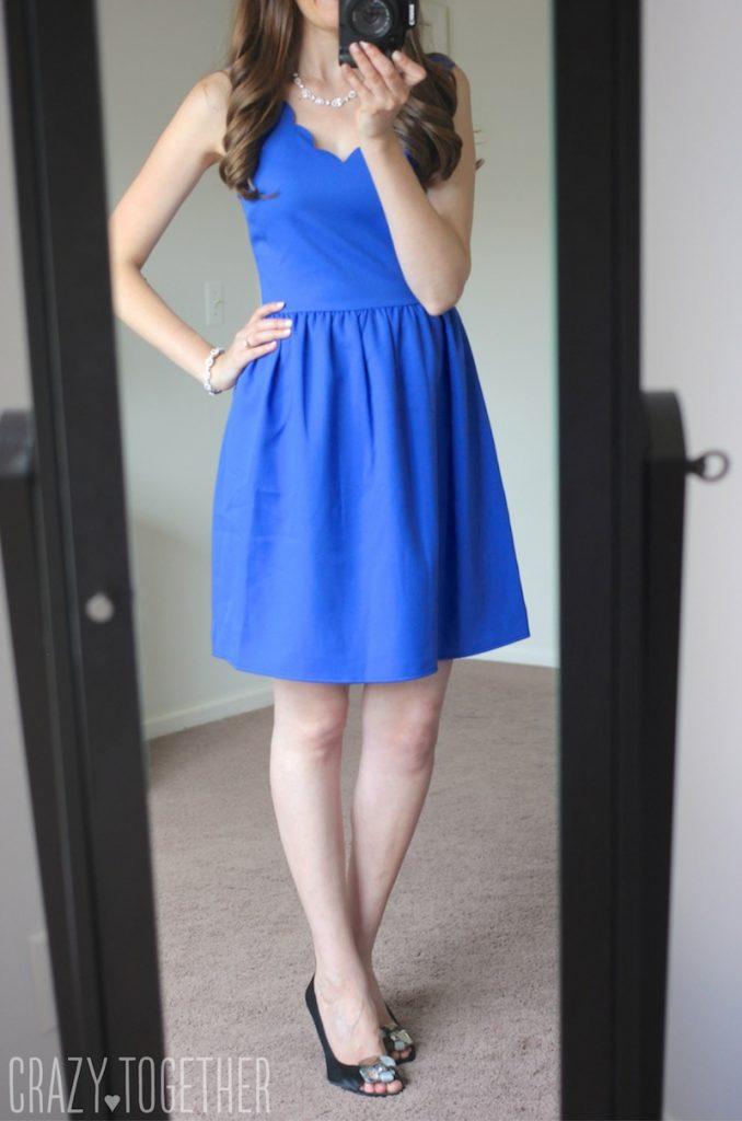 Dixon Scallop Trim Dress from Everly - Stitch Fix