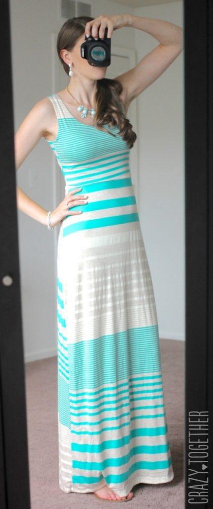 light green Mitchel Maxi Dress from Gilli - July Stitch Fix Review