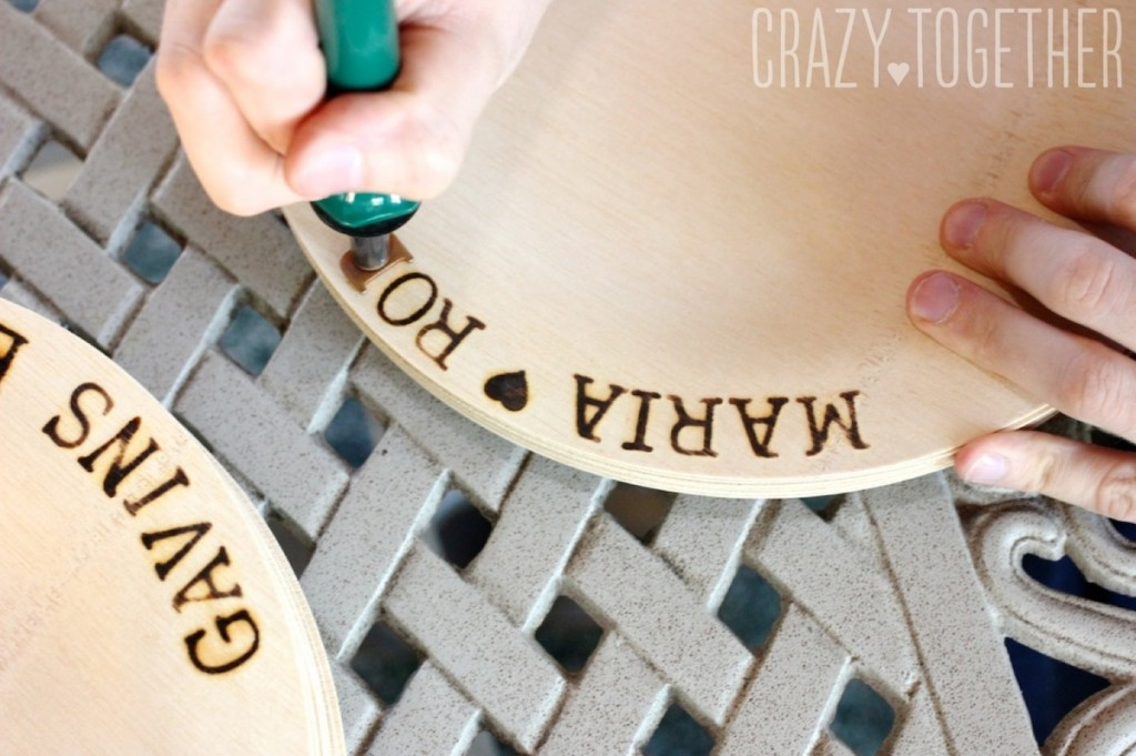 DIY Wedding Woodburned Plates