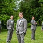 Groomsmen in suits and bowties