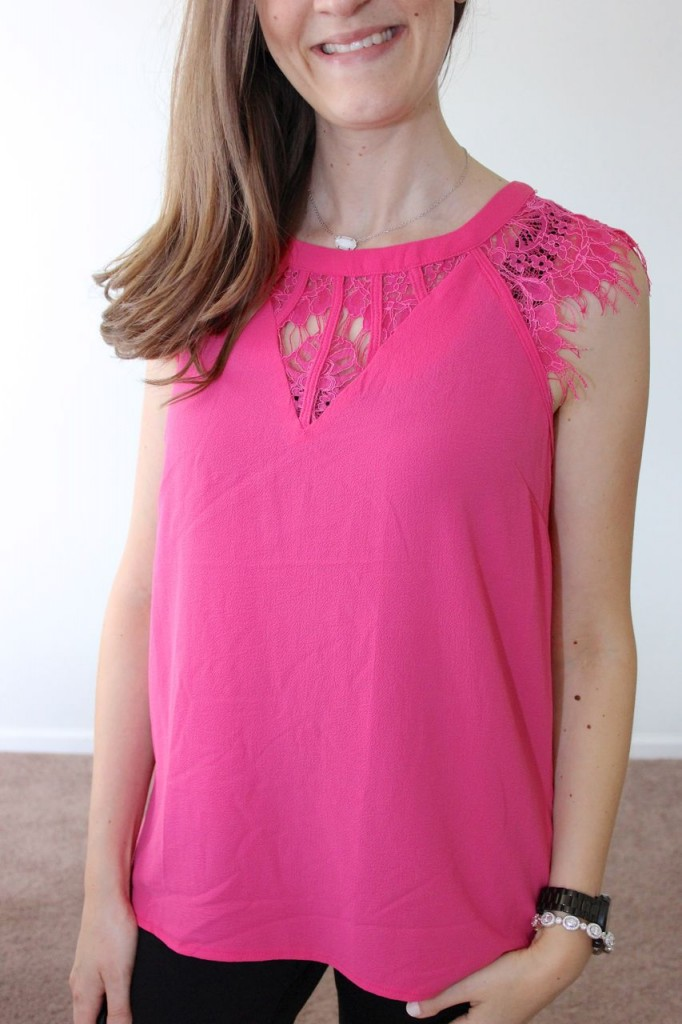 Jarred Lace Detail Cap-Sleeve Blouse from Brixon Ivy - Stitch Fix