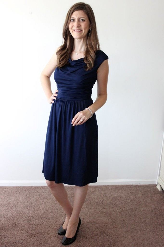 navy Kadence Cowl Drape Front Dress from Gilli - Stitch Fix